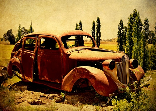 Rusty Old Car Workart Prints And Picture Frames