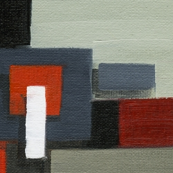 Abstract Blocks Red 1