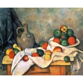 Still Life with drapery, pitcher and fruit bowl