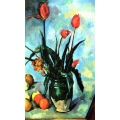 Still Life Vase with Tulips