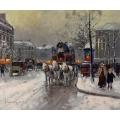 Omnibus on the Place de Madeleine