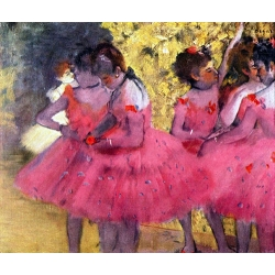 Dancers in Pink between the Scenes