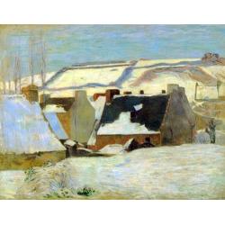 Breton Village in Snow
