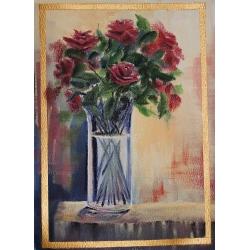 Roses on a Sunny Shelf