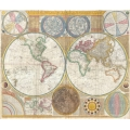 1794 Wall Map of the World
