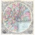1846 - 1879 New York City Map