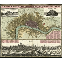 Stadt London (1740) City Map