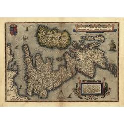 Theatrum Orbis Terrarum - Anglia, Scotia, Hibernia (1570)
