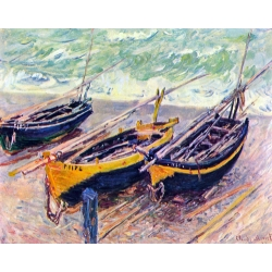 Dock of Etretat (three fishing boats)
