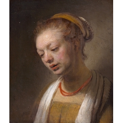 Young Woman with a Red Necklace