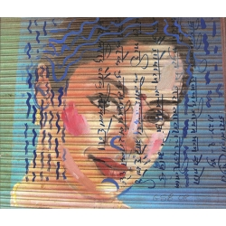 Indian Woman on Garage Door - Signed Ltd Edition 1/30