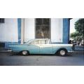 Blue Car Havana Cuba Lomo