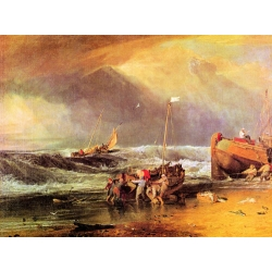 Coastal Scene with Fishermen