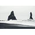 Black Beach Ice Land