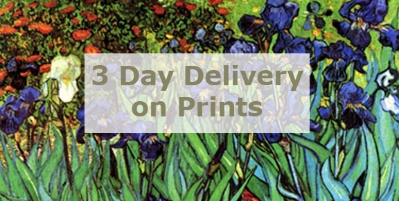 3 Day Delivery on All Prints