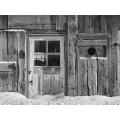 Old Door in Snow