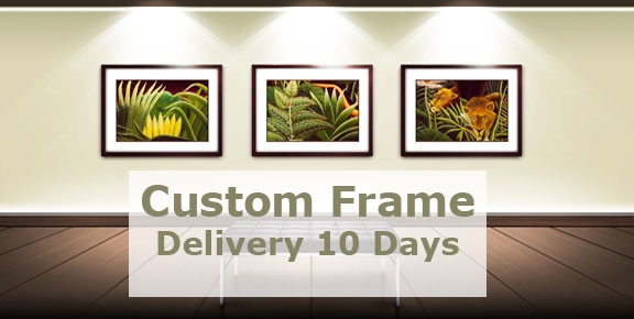 Custom Framed Art takes 10 Days for Delivery