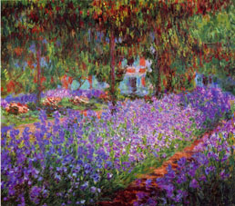Claude Monet The Artists Garden in Giverny workart classic