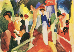 August Macke's Hat Shop at the Promenade workart classic