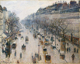 Boulevard Montmartre by Camille Pissarro