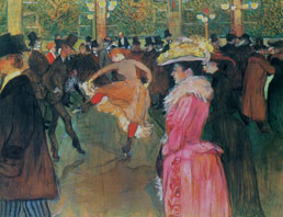 At the Moulin Rouge The Dance by Toulouse-Lautrec