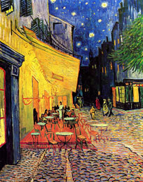 Van Gogh Cafe Terrace on the place du forum arles at night