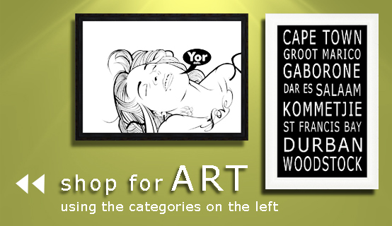 shop for ART using the categories on the left